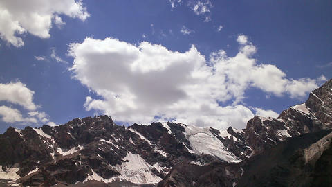 Clouds in the mountains. Pamir, Tazhikistan. TimeL Footage