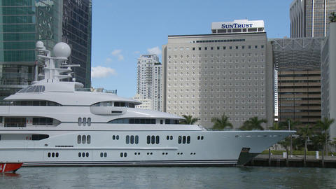 Big Yachts In Miami stock footage