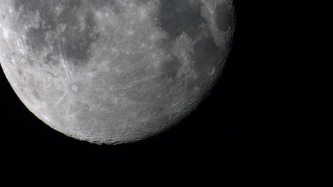 Big moon in the sky. The view through the clouds Footage