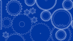 Gear cogs rotating system gearbox blueprint mechan Animation