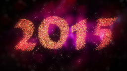 New Year 2015 Countdown stock footage