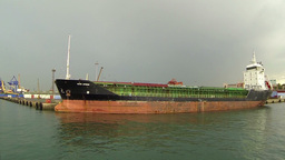 Cargo ship under loading Footage