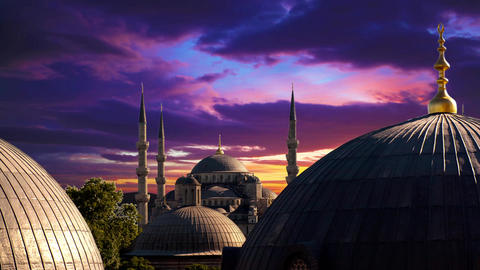 Evening In Istanbul stock footage