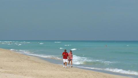Tourists on South Beach Footage