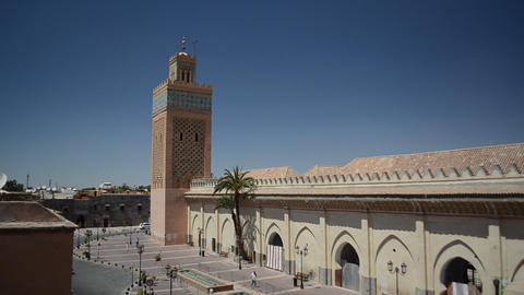 Saadian Tombs in Marrakech, Morocco Footage