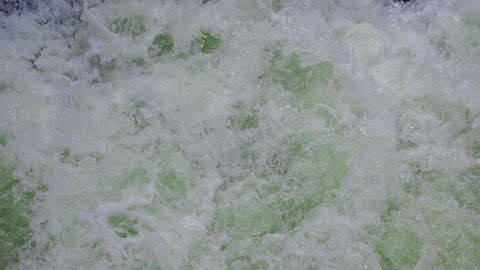 Sea foam in green waves Footage