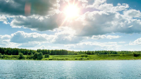Summer River stock footage