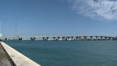 Bridge of the MacArthur Causeway, Miami Footage