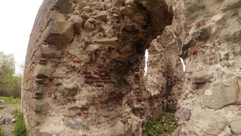 Castle ruins of the knights of Templar the oldest Footage