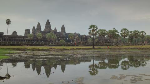 Angkor Wat temple zoom timelapse 2 Footage