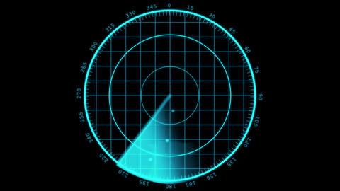 Modern Radar sreen display Animation