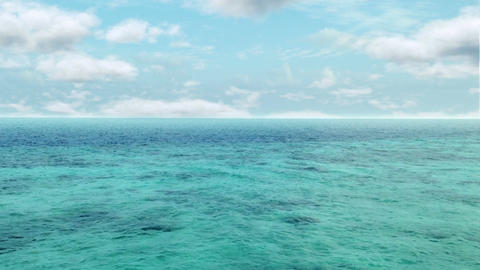 Ocean Cloud Timelapse stock footage