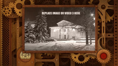 Mechanical cog wheels spot After Effects Template