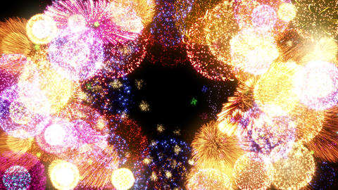 Fireworks Festival 2 Round 1 4k CG動画