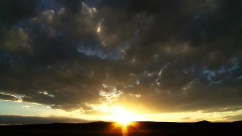 Desert Sunset Time-lapse Footage