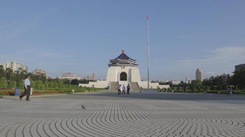 Chiang Kai Shek Memorial hall - dolly shot with Ta Live影片