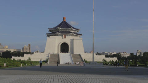 Chiang Kai Shek Memorial hall - close almost sunse Footage