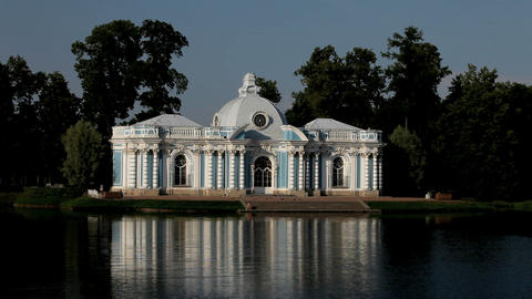 The palace on the lake Stock Video Footage