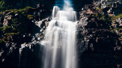 Waterfalls in the Mountains Stock Video Footage