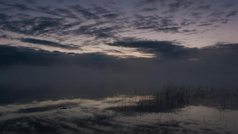 clouds over the lake, timelapse Footage