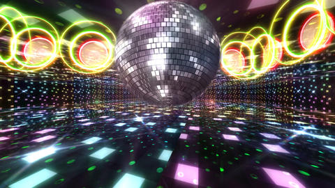 Disco Floor B1Bs HD Stock Video Footage