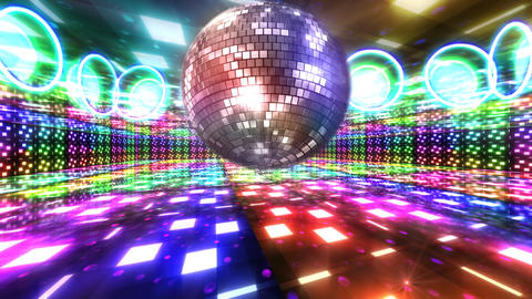 Disco Floor B1Bs HD Stock Video Footage