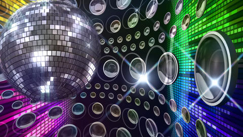 Disco Floor C1J1BC3 HD Stock Video Footage