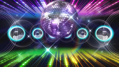 Disco Floor F1J1Eq HD Stock Video Footage