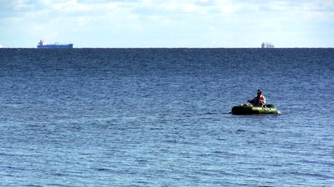inflatable boat Footage