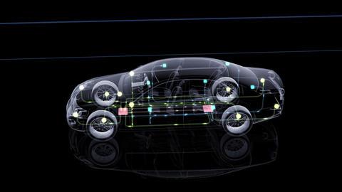 Car Electronics 2Cal HD Stock Video Footage