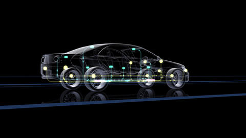 Car Electronics 2Cbl HD Stock Video Footage