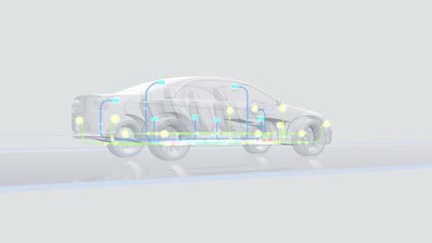 Car Electronics 3Cbl HD Stock Video Footage