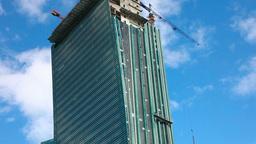Skyscraper under construction Stock Video Footage
