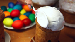 Easter cake Stock Video Footage
