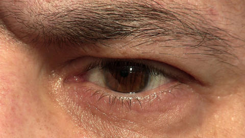man eye closeup Stock Video Footage