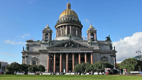 Saint Isaac's Cathedral Stock Video Footage