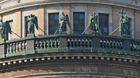 Sculptures on the upper balcony Footage