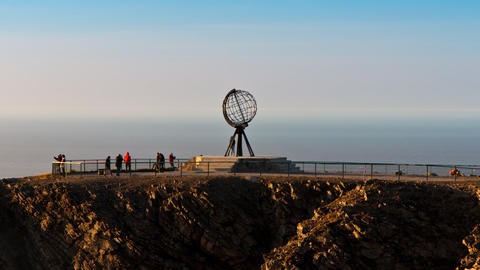 monument at the North Cape Stock Video Footage
