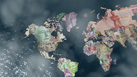 America Financial World with Clouds Stock Video Footage
