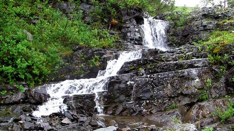 Waterfalls in the Mountains Norway, loop Stock Video Footage