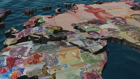 Middle East & Europe Financial World Clouds NO Clouds Animation