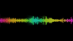 audio spectrum glow Stock Video Footage