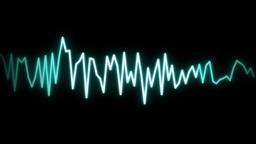 audio wave line black Stock Video Footage