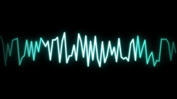 audio wave line black Animation