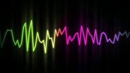 audio wave line color Stock Video Footage