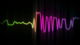 audio wave line color Stock Video Footage