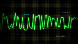 audio wave line blue maths Animation