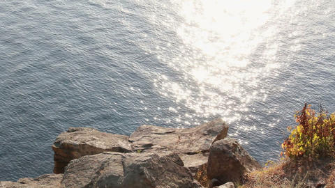 View from cliff Stock Video Footage