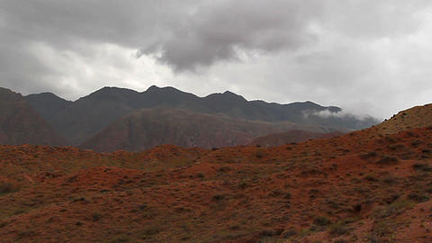 Red mountain Stock Video Footage