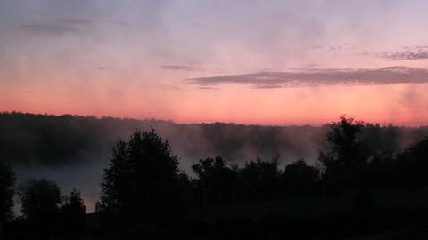 Sunrise Mist Stock Video Footage